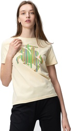 Audimas Womens Short Sleeve Tee Vanilla Printed XS