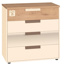 DaVita Fristail 56.09 Chest Of Drawers Bunratti Oak/Cream