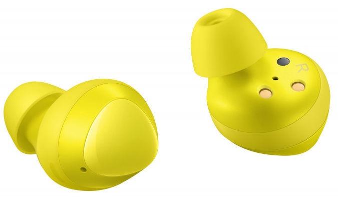 Austiņas Samsung Buds SM-R170 Yellow, bezvadu