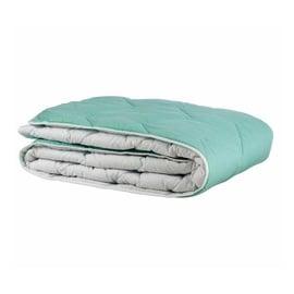 Пуховое одеяло Comco Cotton, 200 см x 140 см, белый/зеленый
