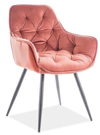 Ēdamistabas krēsls Signal Meble Cherry Velvet Pink 52