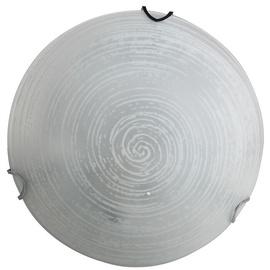 Daira Round Ceiling Lamp E27 60W White/Chrome
