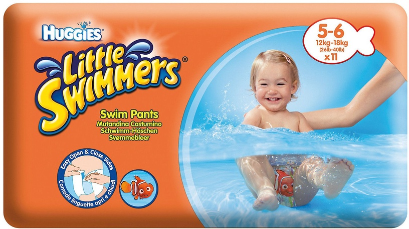 Autiņbiksītes Huggies Little Swimmers, 5 - 6, 11 gab.