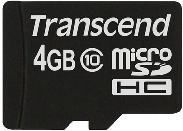 Transcend TSGUSDC10 MicroSD 4GB Class 10