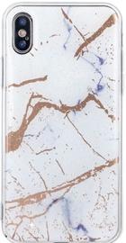 TakeMe Marmur Shine Hard Back Case For Samsung Galaxy A7 A750 White