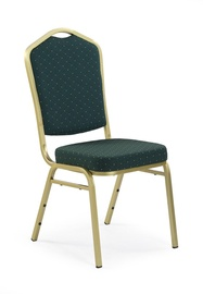 Ēdamistabas krēsls Halmar K66 Green/Gold
