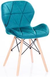 Homede Silla Chairs Velvet 4pcs Blue