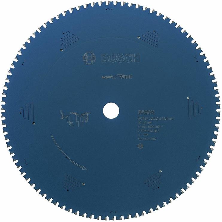 Bosch 2608643063 Circular Saw Blade Expert For Steel 355mm Blue