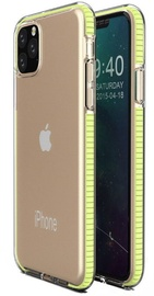 TakeMe Transparent Back Case With Color Frame For Apple iPhone 11 Pro Max Yellow