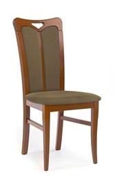 Ēdamistabas krēsls Halmar Hubert2 Dark Walnut/Torent Beige
