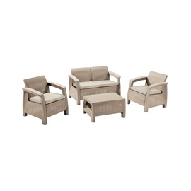 Комплект уличной мебели Keter Corfu 17193504, коричневый, 4 места