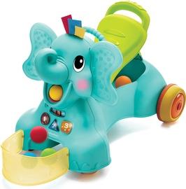 Детская машинка Infantino 3-in-1 Sit Walk & Ride Elephant, синий/желтый/зеленый