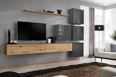 ASM Switch IX Wall Unit Wotan Oak/Graphite