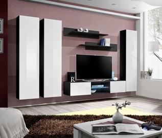 ASM Fly P1 Living Room Wall Unit Set White/Black