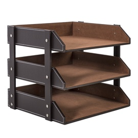 Home4you Walter Document Shelves Dark Brown