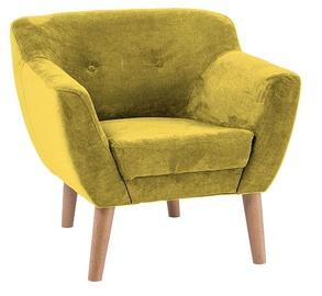 Atzveltnes krēsls Signal Meble Bergen 1 Yellow, 78x54x76 cm