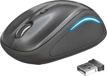 Datorpele Trust YVI FX, melna, bezvadu, optiskā