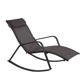 Home4you Boston Rocking Sun Lounger Grey