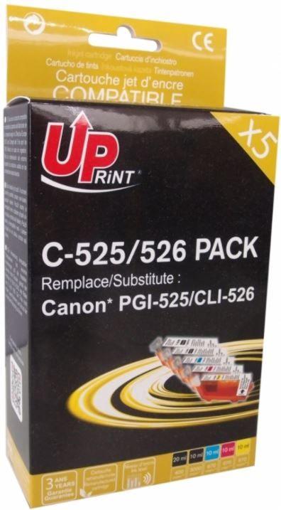 Uprint Cartridge For Canon Black Cyan Magenta Yellow