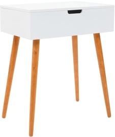 Столик-косметичка VLX With Mirror 245751, коричневый/белый, 60x40x75 см, с зеркалом