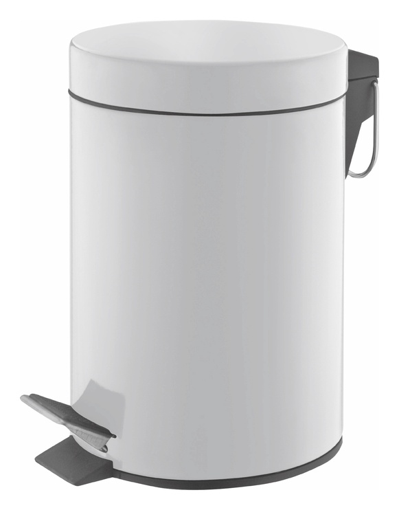 SN Metal Waste Bin 20l White