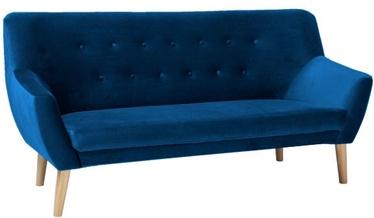 Dīvāns Signal Meble Nordic 3 Velvet Bluvel 86 Blue, 180 x 75 x 90 cm