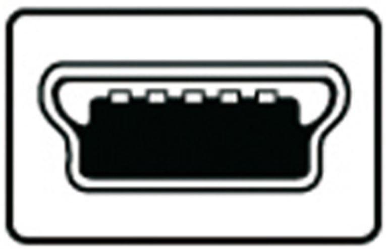 Assmann Cable USB-mini/USB Black 1m
