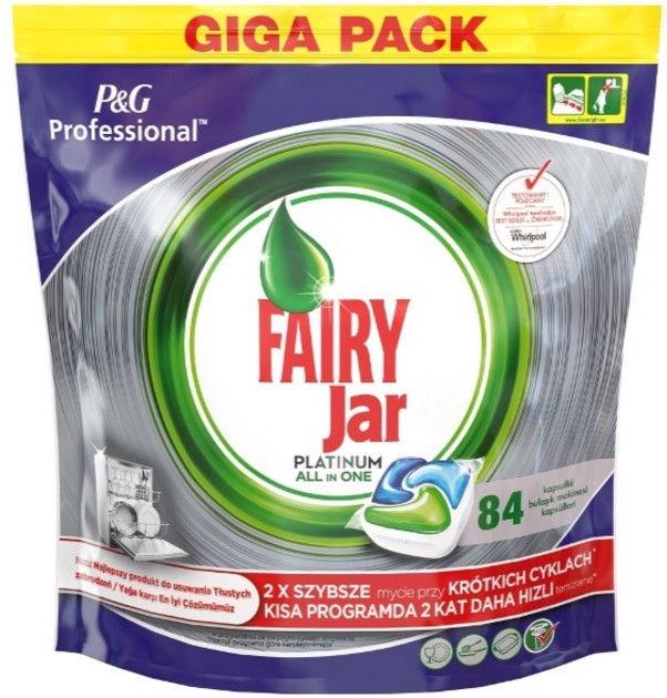 Trauku mazgājamās mašīnas kapsulas Fairy All In One Platinum, 84 gab.