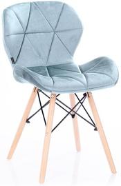 Ēdamistabas krēsls Homede Silla Velvet Silver, 4 gab.