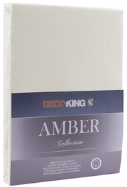Простыня DecoKing Amber Ecru, 240x200 см, на резинке
