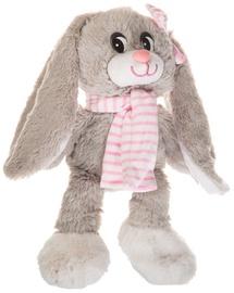Axiom Rabbit Nina Grey With Pink Scarf 30cm