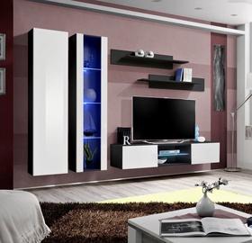 Dzīvojamās istabas mēbeļu komplekts ASM Fly O4 White/Black