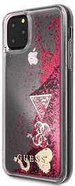Guess Glitter Hearts Back Case For Apple iPhone 11 Pro Max Red