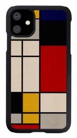 Man&Wood Mondrian Wood Back Case For Apple iPhone 11 Black