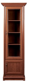 Black Red White Glass Door Cabinet Right Kent 70x204x43cm Chestnut