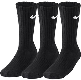 Nike Value Cotton Crew SX4508 001 Black 3 Pack 34-38