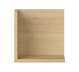 Black Red White Priceton Wall Shelf 25cm Oak