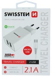 Swissten Smart IC Travel Charger Micro USB 1.2m White