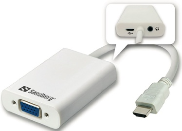 Sandberg Adapter HDMI to VGA+Audio Converter