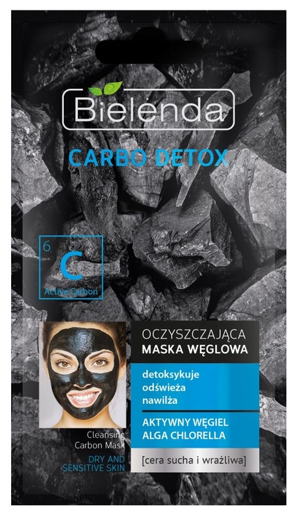 Sejas maska Bielenda Carbo Detox Purifying Mask Dry & Sensitive Skin, 8 g
