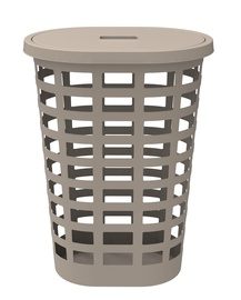 Plast Team Boston Oval Laundry Basket 54l Beige