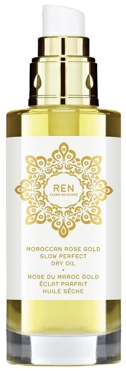 Ķermeņa eļļa Ren Moroccan Rose Gold Glow Perfect Dry Oil, 100 ml