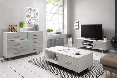 Dzīvojamās istabas mēbeļu komplekts Vivaldi Meble Sweden White/Grey