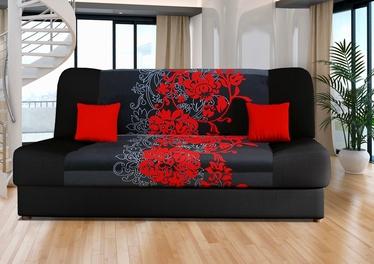 Dīvāngulta Platan Jas Kwiaty Red, 188 x 85 x 90 cm