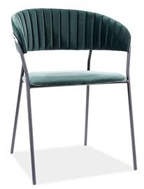 Ēdamistabas krēsls Signal Meble Modern Lira B Velvet, zaļa