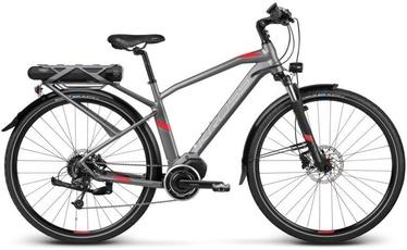 "Kross E-Trans Hybrid 3.0 XL 28"" Graphite Red Matte 19"