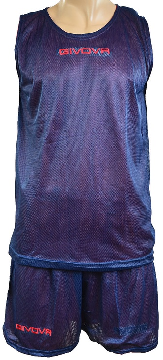Givova Complete Double Basketball Set Blue Red M
