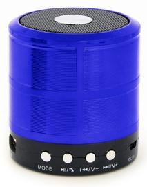 Bezvadu skaļrunis Gembird SPK-BT-08-B, zila/melna, 3 W