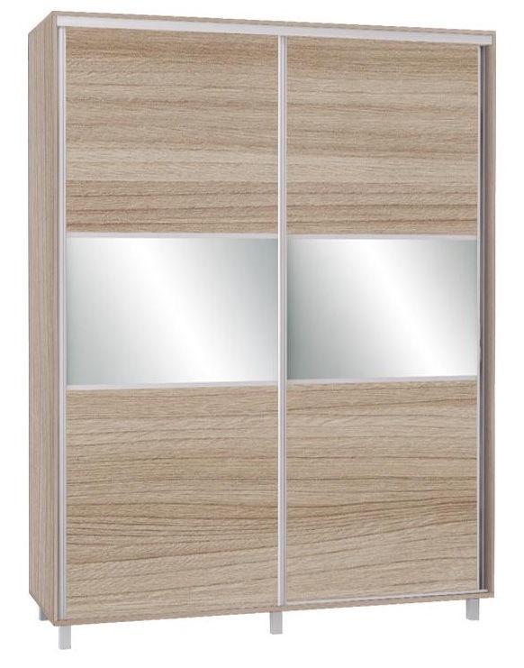 Skapis Bodzio SZP180W Latte, 180x60x240 cm, with mirror