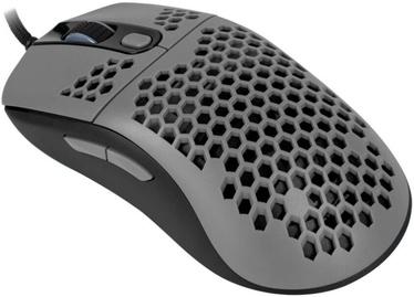 Spēļu pele Arozzi Favo Ultra Light, melna/pelēka, vadu, optiskā